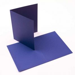 "A2 5 1/2"" x 4 1/4"" Basis Blank Card Blue (50 Pieces) [PC217]"