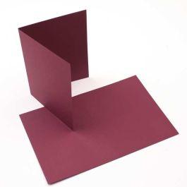 """A2 5 1/2"""" x 4 1/4"""" Basis Blank Card Burgundy (50 Pieces) [PC213]"""