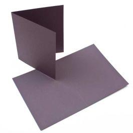 "A7 7"" x 4 7/8"" Basis Blank Card, Grey (50 Pieces) [PC014]"