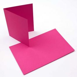 "A2 5 1/2"" x 4 1/4"" Basis Blank Card Magenta (50 Pieces) [PC208]"