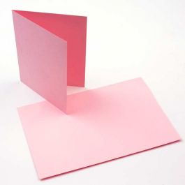 "A7 7"" x 4 7/8"" Basis Blank Card Pink (50 Pieces) [PC004]"