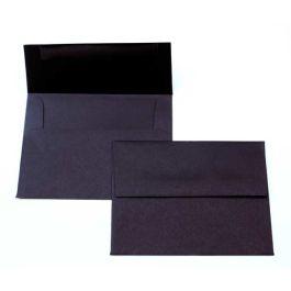 """A7 7 1/4"""" x 5 1/4"""" Basis Envelope, Black (50 Pieces) [EC015]"""
