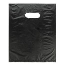 """12"""" x 15"""" Black Handle Bag 0.7 Mil HDPE (100 Pieces) [H1215BK3]"""