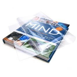 """10 1/2"""" x 19 1/2"""" Clear Slip-on Book Covers (25 Pieces) [BC101H]"""