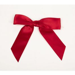 "7/8"" Red Pre-tied Bow (100 Pieces) [BOW7RE]"