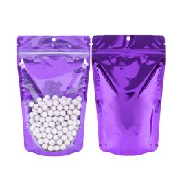 "5 1/8"" x 3 1/8"" x 8 1/8"" (Outer Dims) Violet Backed Stand Up Pouch w/Hang Hole (100 Pieces) [ZBGB3VL]"