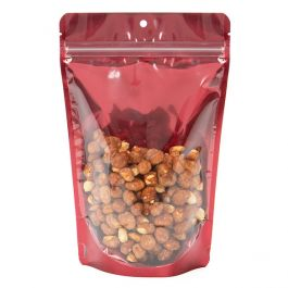 """5 7/8"""" x 3 1/2"""" x 9 1/8"""" (Outer Dims) Bright Red Stand Up Pouch with Hang Hole (100 Pieces) [ZBGB7RD]"""