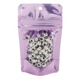 "3 1/8"" x 2"" x 5 1/8"" (Outer Dims) Brilliant Lavender Stand Up Pouch w/Hang Hole (100 Pieces) [ZBGB1LV]"