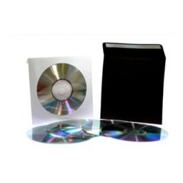 White Paper CD Sleeve with Window (50 Pieces) [CDS1]