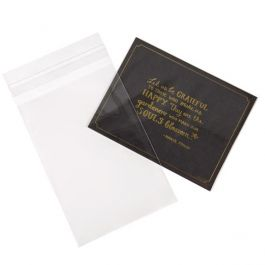 """4 1/4"""" x 6 1/8"""" + Flap, Crystal Clear Bags® (100 Pieces) [B4X6]"""