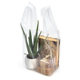"10"" x 9"" x 22 1/2"" Clear Poly Handle Bag (100 Pieces) [CHB1]"