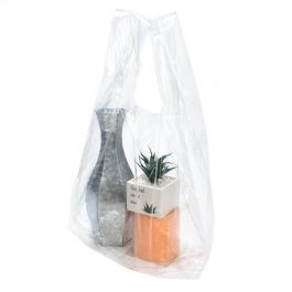 """14 1/2"""" x 10 1/2"""" x 30"""" Clear Poly Handle Bag (100 Pieces) [CHB2]"""