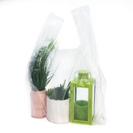 "20"" x 10"" x 30"" Clear Poly Handle Bag (100 Pieces) [CHB5]"