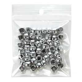 "3"" x 3"" Crystal Clear Zip Bags + Round Hang Hole, 3 mil (100 Pieces) [Z3R33]"