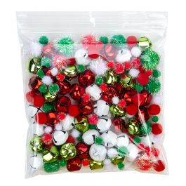 "7"" x 7"" Crystal Clear Zip Bags + Round Hang Hole, 2 mil (100 Pieces) [ZR77]"