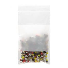 """3"""" x 5"""" Crystal Clear Zip Bags + White Block, 2 mil (100 Pieces) [ZWC35]"""
