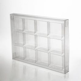 "4"" x 13/16"" x 5 7/16"" Crystal Clear Artisan Candy Box Set for 12 (25 Pieces) [CNDY270]"