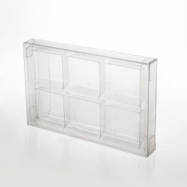 "2 3/4"" x 13/16"" x 4 1/16"" Crystal Clear Artisan Candy Box Sets for 6 (25 Pieces) [CNDY274]"