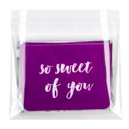 "5 3/16"" x 3 3/4"" + Flap, Crystal Clear Bags® (100 Pieces) [B35]"