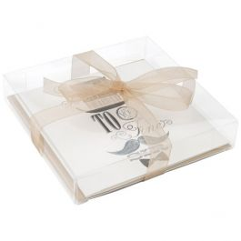 "5 1/8"" x 1"" x 5 1/16"" Crystal Clear Boxes® (25 Pieces) [FB47]"