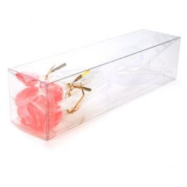 "3"" x 3"" x 12"" Crystal Clear Pop & Lock Boxes (25 Pieces) [PLB90]"
