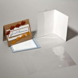 "5 1/8"" x 10 1/16"" Crystal Clear Card Jacket For 5"" x 5"" Envelope + Card (100 Pieces) [CJ5X5SM]"