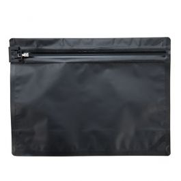 "12"" x 9"" Matte Black Child Resistant Pouch Bags (10 Pieces) [CRZ912B]"