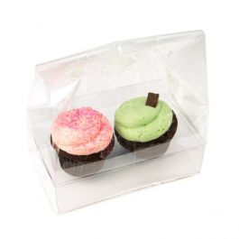 "7"" x 4"" x 9"" Double Cupcake Bag Set (100 Sets) [CBG2]"