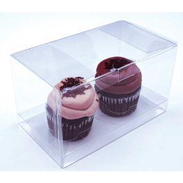 "7"" x 4"" x 4"" Double Cupcake Box Set (100 Set) [CBS174]"