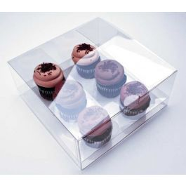 "9"" x 9"" x 4"" Cupcake Box Set for Six (100 Sets) [CBS175]"