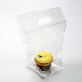 "8"" x 4 1/16"" x 9"" Zip Handle Cupcake Bags for Singles (100 Pieces) [CZHB4]"