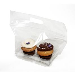 "11"" x 4 1/16"" x 6"" Zip Handle Cupcake Bags for Doubles (100 Pieces) [CZHB3]"