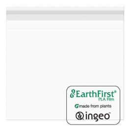 """6 11/16"""" x 6 9/16"""" + Flap, Eco Clear Bags (100 Pieces) [GR6X6M] - CLEARANCE"""