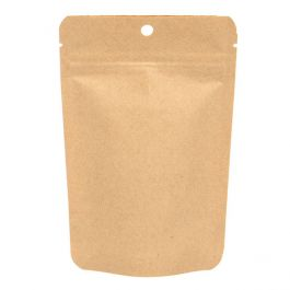 "4"" x 2 3/8"" x 6""  Kraft Eco Stand Up Pouch (100 Pieces) [ZBGEK2]"