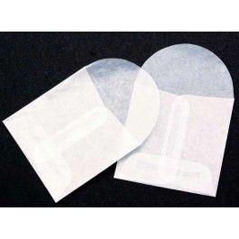 "2 1/8"" x 2 1/8"" Glassine Open End Center Seam Envelope (100 Pieces) [G8]"
