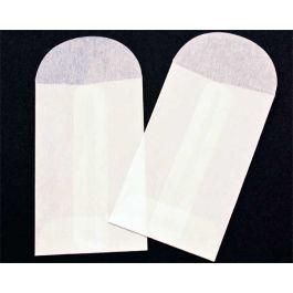 "2"" x 3 1/4"" Glassine Open End Center Seam Envelope (100 Pieces) [G7]"