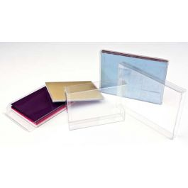 "6 1/8"" x 1"" x 6 1/16"" Crystal Clear Boxes® (25 Pieces) [FB49]"