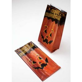 "4"" x 2 1/2"" x 9 1/2"" The Great Pumpkin Printed Gusset Bags, 1.2 Mil (100 Pieces) [G4TGP]"