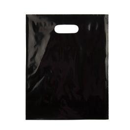 "12"" x 15"" Black Handle Bag 2.25Mil LDPE (100 Pieces) [H1215BK1]"