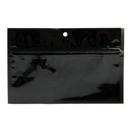 "6"" x 2 3/4"" Black Metallized Hanging Zipper Barrier Bags (100 Pieces) [HZBB2MB]"
