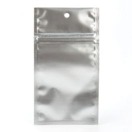 "3"" x 4 1/2"" Silver Metallized Hanging Zipper Barrier Bags (100 Pieces) [HZBB3MS]"