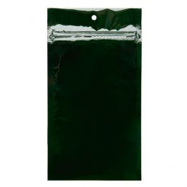 "4"" x 6 1/2"" Hunter Green Metallized Hanging Zipper Barrier Bags (100 Pieces) [HZBB5HG]"