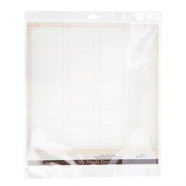 "12 7/16"" x 13"" + Flap, Crystal Clear Hanging Bag (100 Pieces) [HB1213]"