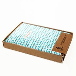 "3 3/4"" x 5/8"" x 5 3/8"" Kraft Paper Box Bottom (25 Pieces) [KR10]"