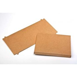 "5 3/8"" x 5/8"" x 7 1/2"" Kraft Paper Box Bottom (25 Pieces) [KR1]"
