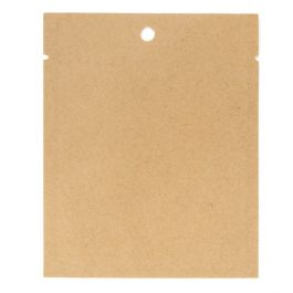 "3"" x 4"" Kraft Compostable Heat Seal Bags (100 Pieces) [KHS34]"