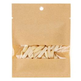 "3"" x 4"" Kraft Compostable Heat Seal Bags w/Window (100 Pieces) [KHS34W]"