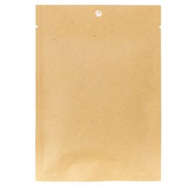 "4"" x 6"" Kraft Compostable Heat Seal Bags (100 Pieces) [KHS46]"