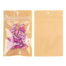 "3 5/8"" x 5"" Kraft Backed Hanging Barrier Bags w/Tear Notches (100 Pieces) [HZB4KC]"