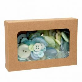 "2 3/4"" x 13/16"" x 4 1/16"" Kraft Paper Window Box with Attached PET Sheet (25 Pieces) [WKRG317]"